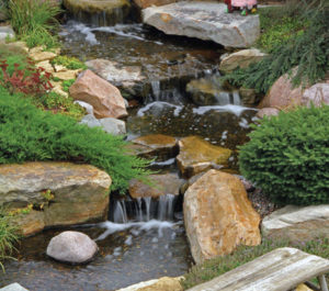 Large Pondless Waterfall Kit With 26u0027 Stream And 5PL   5000 Pump ...